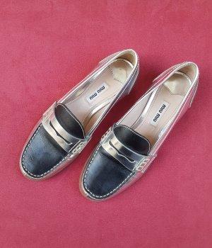 Miu Miu Zapatos formales sin cordones negro-color plata