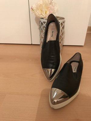 Miu Miu Loafers mit Silber Schnalle