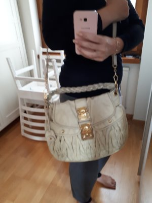 Miu Miu Hobos oatmeal-cream leather