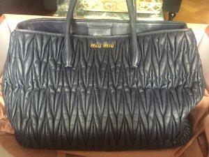 Miu Miu Handbag blue-steel blue leather