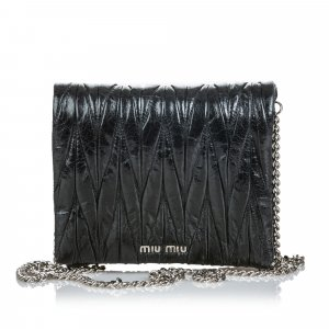 Miu Miu Matelasse Leather Crossbody Bag