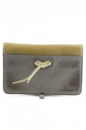 Miu Miu Mini Bag dark brown-olive green casual look
