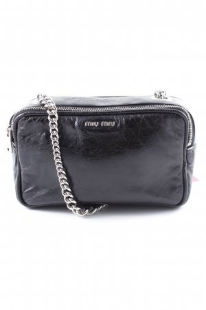 Miu Miu Mini Bag black-silver-colored casual look