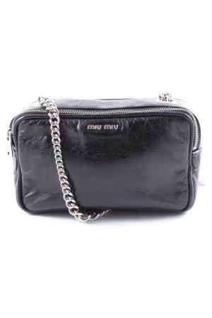 Miu Miu Minibolso negro-color plata look casual