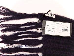 Miu Miu Gebreide sjaal roodbruin