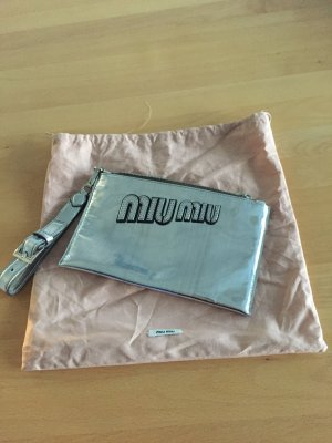 Miu Miu Neu silber-metallic-farbene Pochette