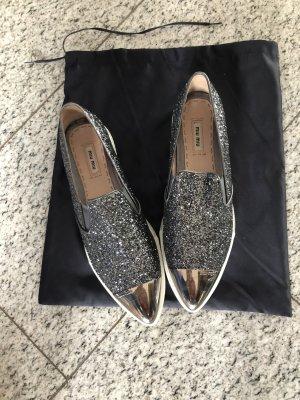 Miu Miu  neu Slippers/Sneaker in Glitzer