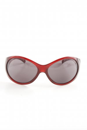 Miu Miu Ovale zonnebril rood casual uitstraling