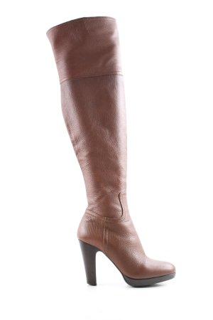 Miu Miu Overknees brown casual look