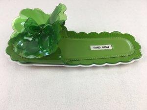 Miu Miu Sabots green leather