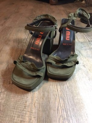 High-Heeled Sandals green grey