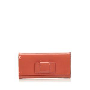 Miu Miu Patent Leather Bow Wallet