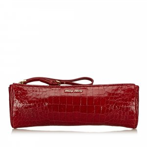 Miu Miu Patent Leather Clutch
