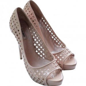 MIU MIU PEEP-TOE PUMPS - IT 40