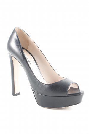 Miu Miu Peeptoe Pumps schwarz-creme Party-Look