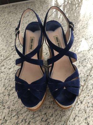 Miu Miu Plateauzool sandalen veelkleurig