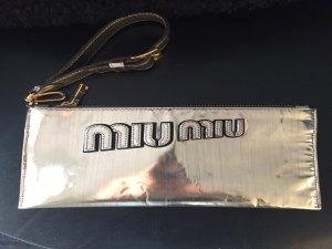 Miu Miu Pochette einmal getragen in metallic-Gold