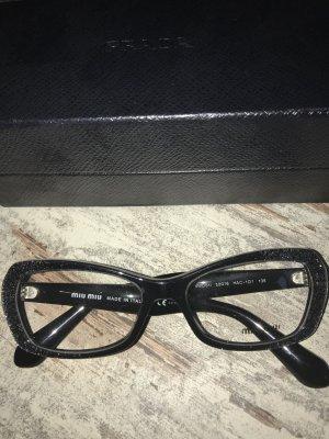 Miu Miu Glasses black-silver-colored