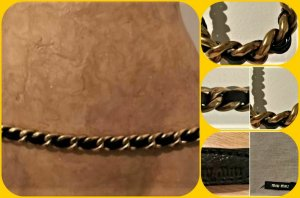 Miu Miu Chain Belt dark brown-gold-colored leather