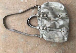 Miu Miu Sac bandoulière gris brun-beige cuir