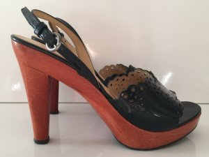 Miu Miu Pumps Gr. 36.5 schwarz Lackleder