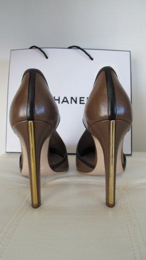 Miu Miu High Heels light brown-gold-colored leather