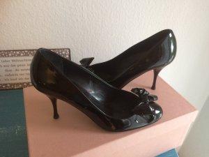 Miu Miu Pumps Lack Leder schwarz  Größe 37,5