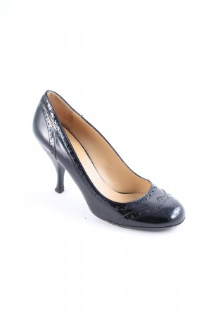 Miu Miu Pumps schwarz Lack-Optik