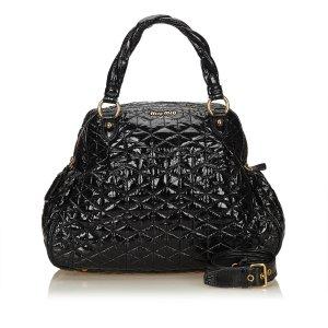 Miu Miu Quilted Patent Leather Handbag