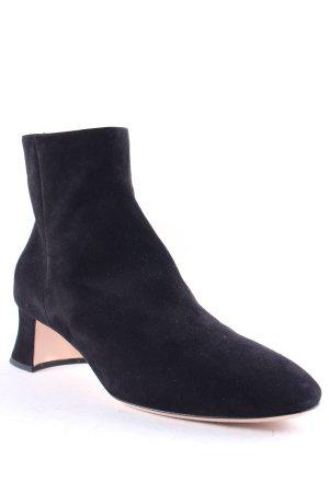 Miu Miu Reißverschluss-Stiefeletten schwarz klassischer Stil