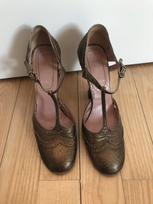 Miu Miu Tacones Mary Jane color oro