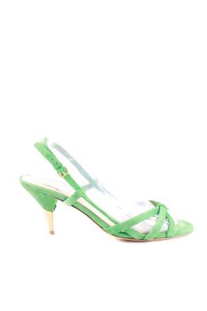 Miu Miu Sandales à lanière vert élégant