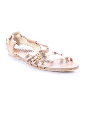 Miu Miu Riemchen-Sandalen roségoldfarben Glanz-Optik