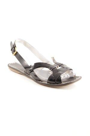 Miu Miu Riemchen-Sandalen schwarz Casual-Look