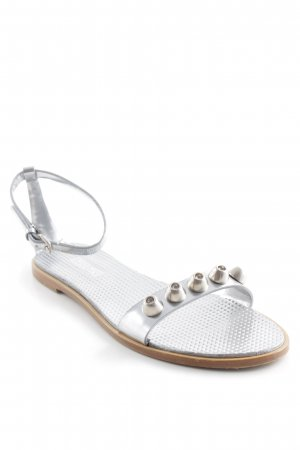 Miu Miu Sandalo con cinturino argento stile casual