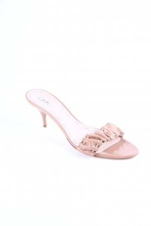 Miu Miu Strapped High-Heeled Sandals nude leather-look