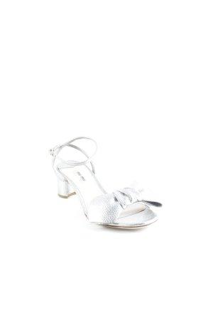 Miu Miu Strapped High-Heeled Sandals silver-colored elegant