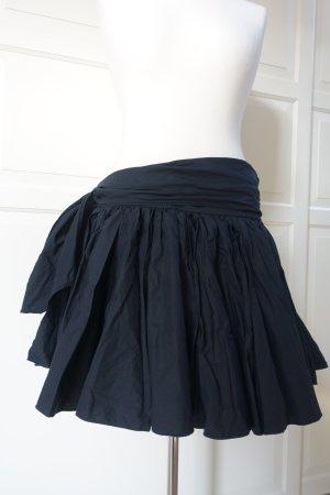 MIU MIU Rock, weiter Minirock aus Baumwolle, in schwarz, ital. 40 od. EUR 40