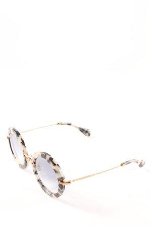 Miu Miu runde Sonnenbrille Farbtupfermuster Casual-Look