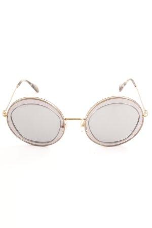 Miu Miu runde Sonnenbrille mehrfarbig Casual-Look