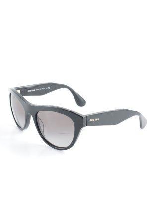 Miu Miu runde Sonnenbrille schwarz Casual-Look