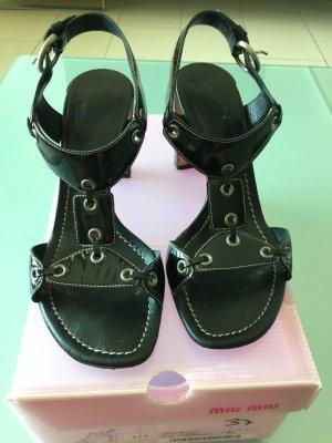 Miu Miu Sandalen met bandjes zwart