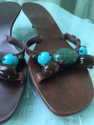 MIU MIU Sandale mit echten Steinen.