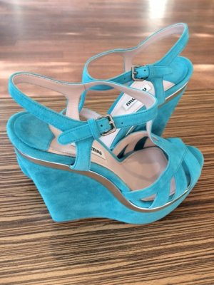 Miu Miu Sandalen mit Keilabsatz
