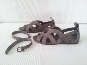 Miu Miu Strapped High-Heeled Sandals grey leather