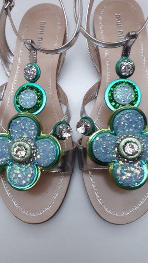 Miu Miu Sandalo con cinturino e tacco alto multicolore Pelle