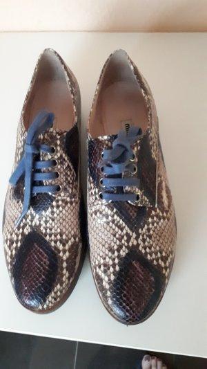 Miu Miu Zapatos brogue multicolor Cuero