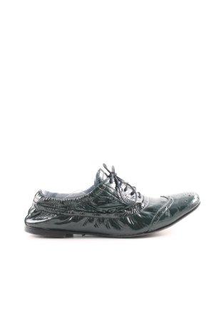Miu Miu Schnürschuhe grün extravaganter Stil