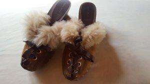 Miu Miu Slipper Socks brown