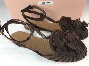 Miu Miu Schuhe braun Gr. 37,5